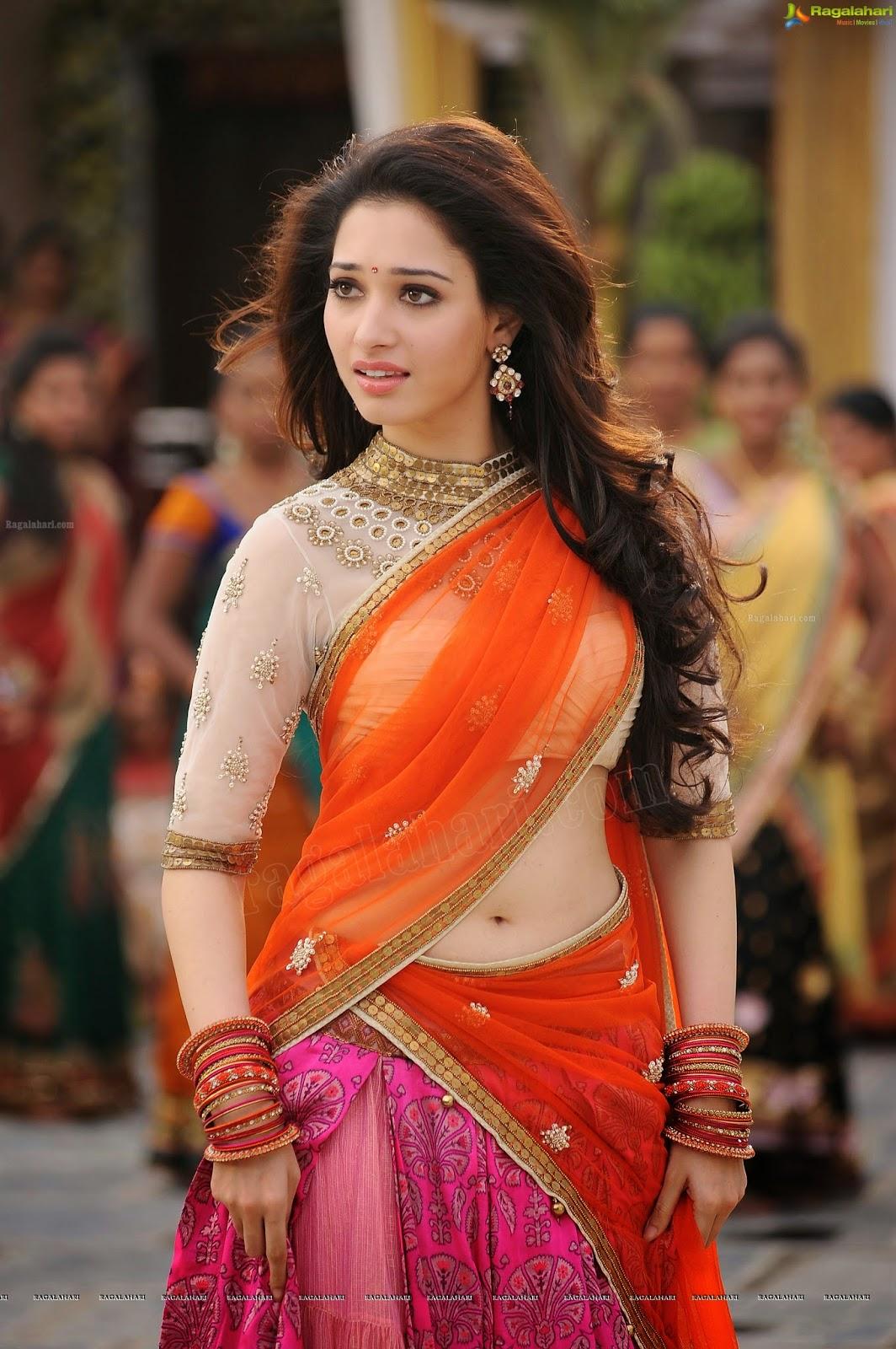 Only Actress Tamanna Navel Show Half Saree Photos At -9448
