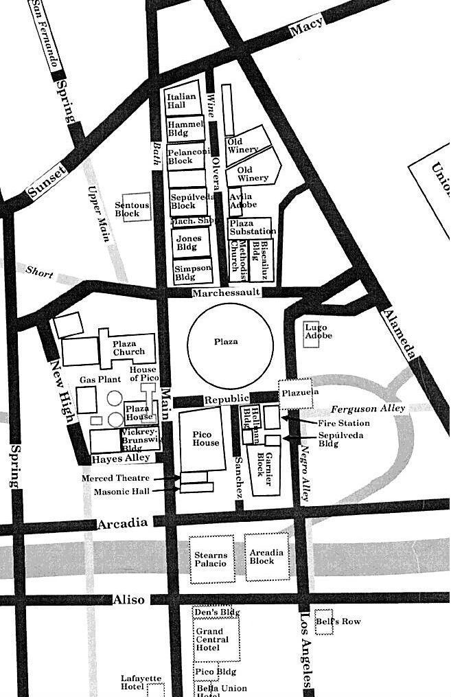 A Terrific Map Of The Plaza Area Showing Current Streets As Well Ones That Have Vanished It's Detail From Larger On Website La Nopalera: Time Warner Cable Arena Seating Diagram At Sergidarder.com