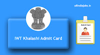 IWT Khalashi Admit Card