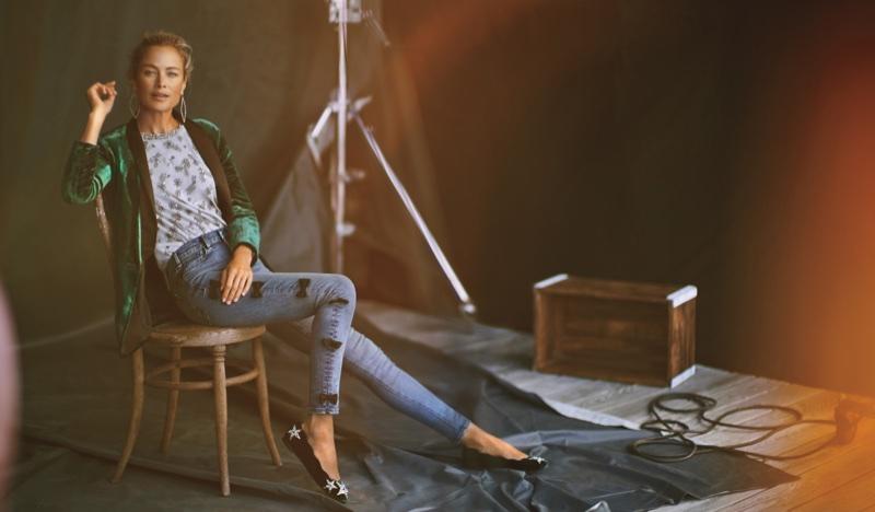 Carolyn Murphy stars in Anthropologie's November 2017 catalog