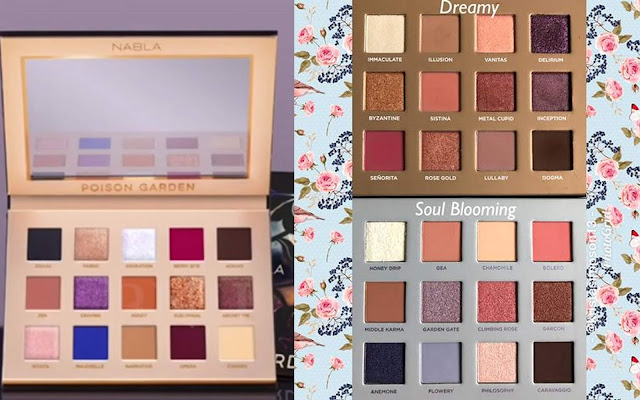 nabla all eyeshadow palettes