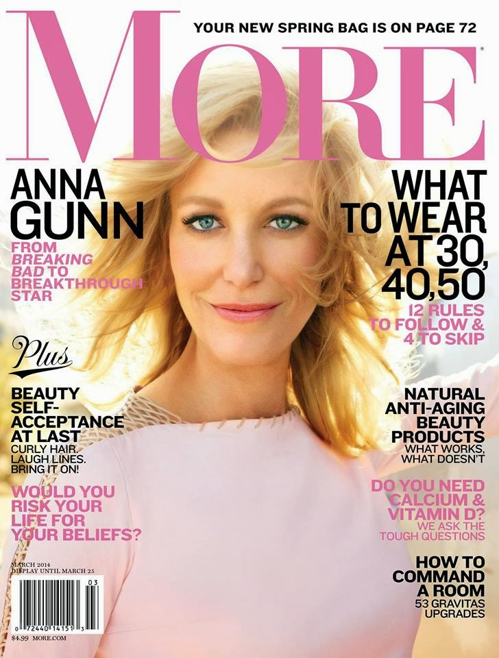 More Magazine November 2014 Issue: Anna Gunn Photos From More US Magazine Cover March 2014 HQ