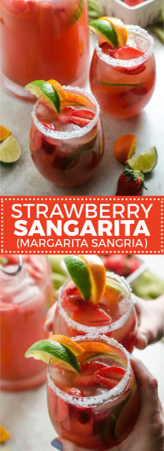 Strawberry Sangarita (Margarita Sangria)
