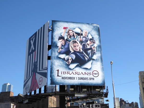 Librarians season 2 billboard NYC