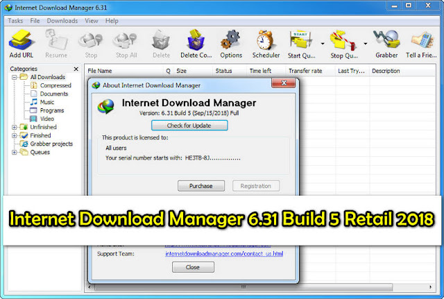 تحميل Internet Download Manager 6.31 Build 5 Retail 2018