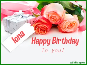 Happy Birthday Iona