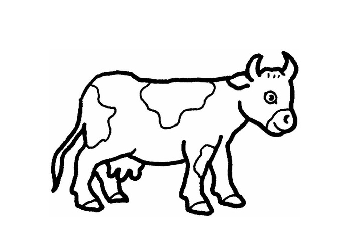 Cartoon cow coloring pages cartoon coloring pages for Coloring pages of a cow