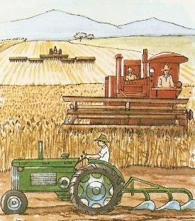 Imagen de agricultor trabajando