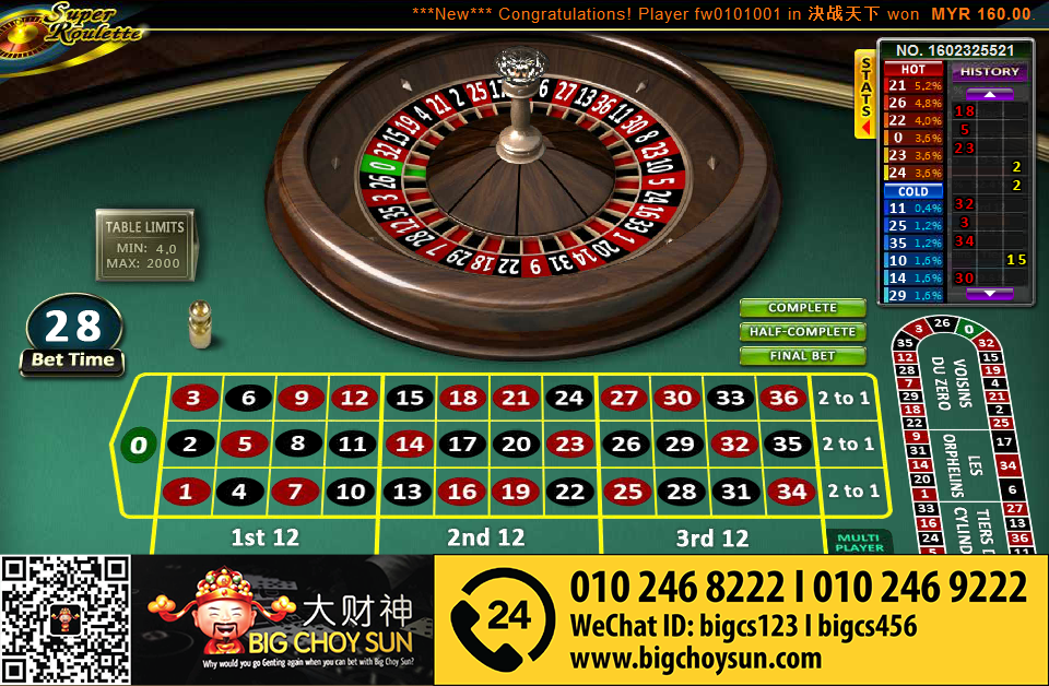 Free roulette slot games
