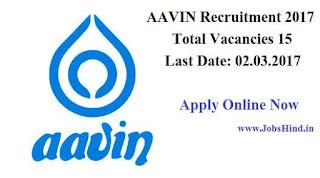 Dindigul AAVIN Recruitment 2017