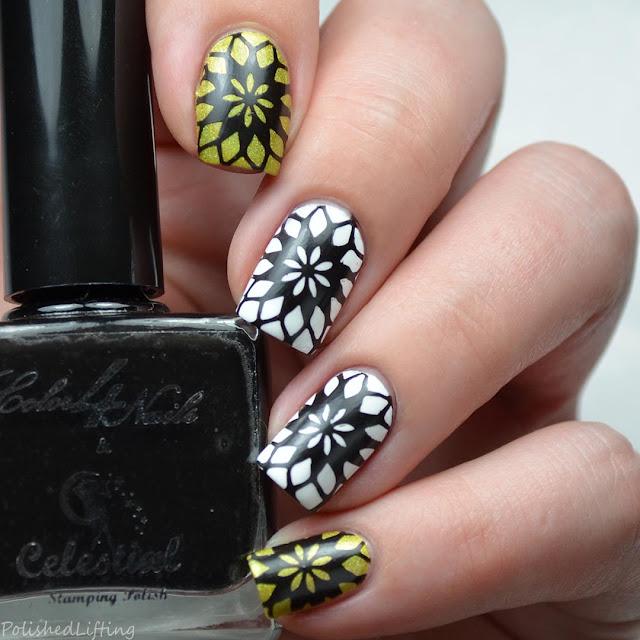black stamping polish