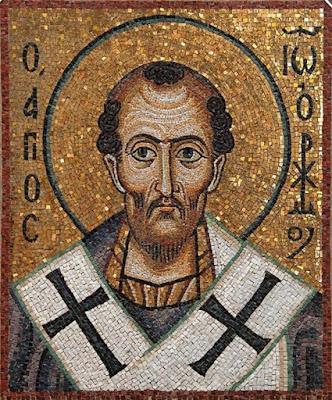 St. John Chrysostom. Mosaic.  Загрузить увеличенное изображение.