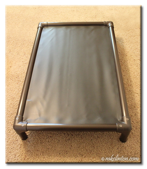 The standard walnut PVC dog bed from Kuranda