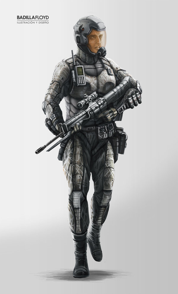 Warriors In Art Future Soldier Concept Art By Francisco