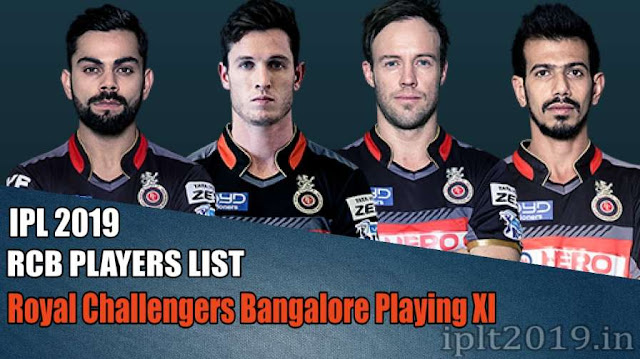 Royal Challengers Bangalore Roster 2019