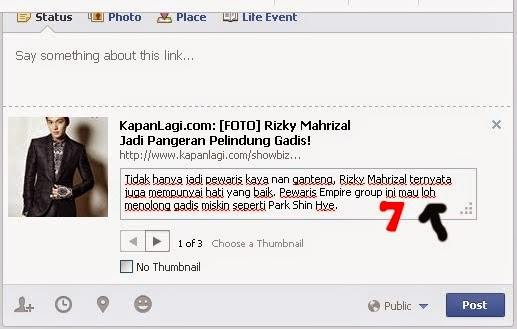 shared link facebook 7