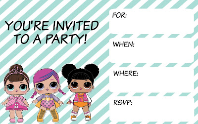 L.O.L. surprise party printables