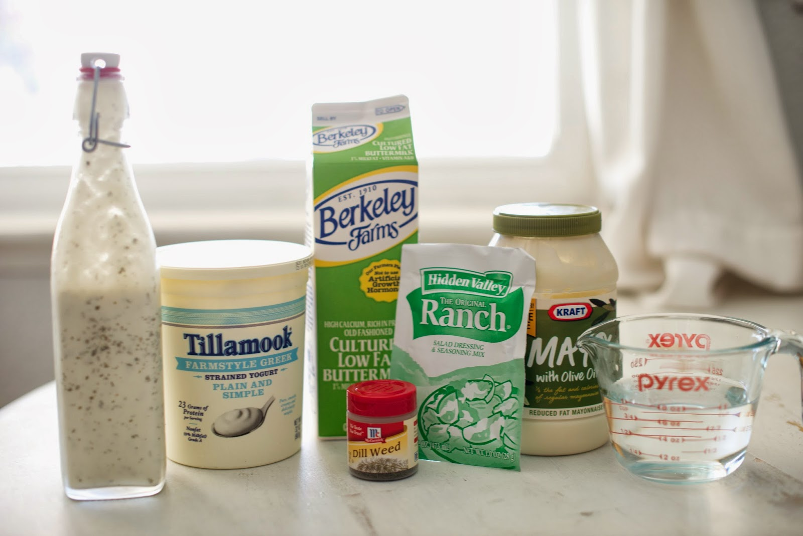 Healthier homemade ranch dressing recipe