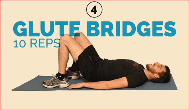 Glute Bridges 10 reps