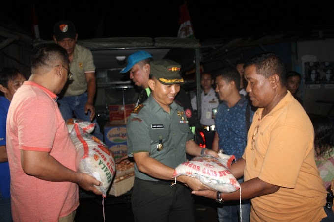 Dandim 0508/Depok Bantu Korban Kebakaran di Kampung Lio