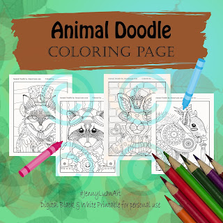 Animal Doodle Woodland Critters Steampunk Bundle