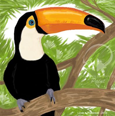 Desenho de um Tucano feito no Paint