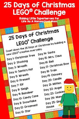 http://lifeofahomeschoolmom.com/2016/11/25-days-of-christmas-lego-challenge/