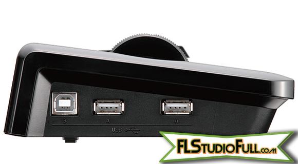 Teclado Korg microKEY 37 - Detalhe Conexões USB