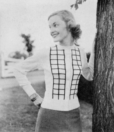 The Vintage Pattern Files: Free 1950's Knitting Pattern - Casual Cardigan