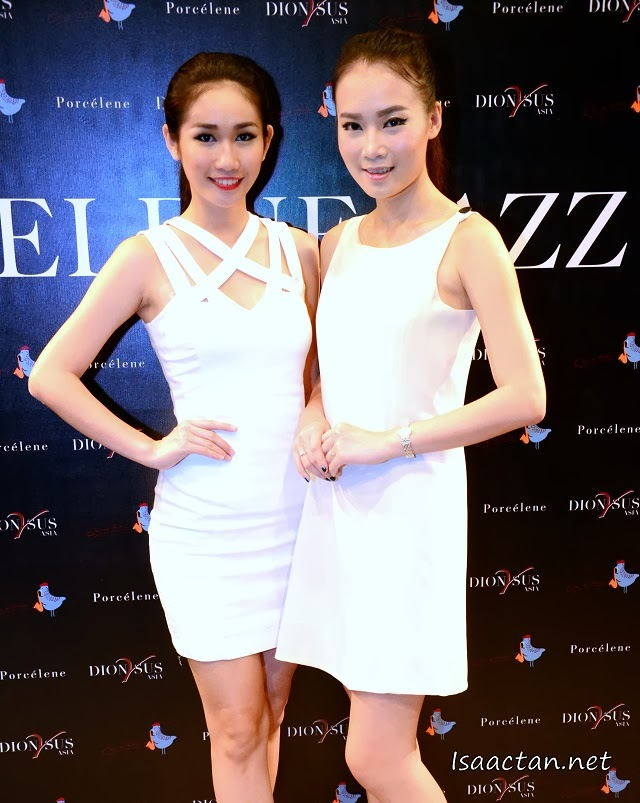 Pretty ladies welcoming us to the media launch