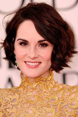 Michelle Dockery short haircut with bangs