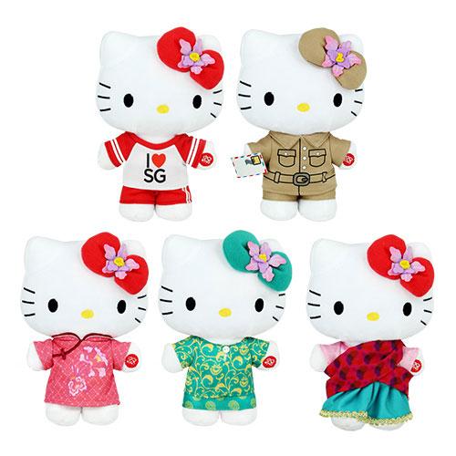da5ee116287b Hello Kitty in Cheongsam 2. Hello Kitty in Baju Kurung 3. Hello Kitty in  Saree 4. Hello Kitty in SG50 Outfit 5. Hello Kitty in Colonial Postman  Uniform