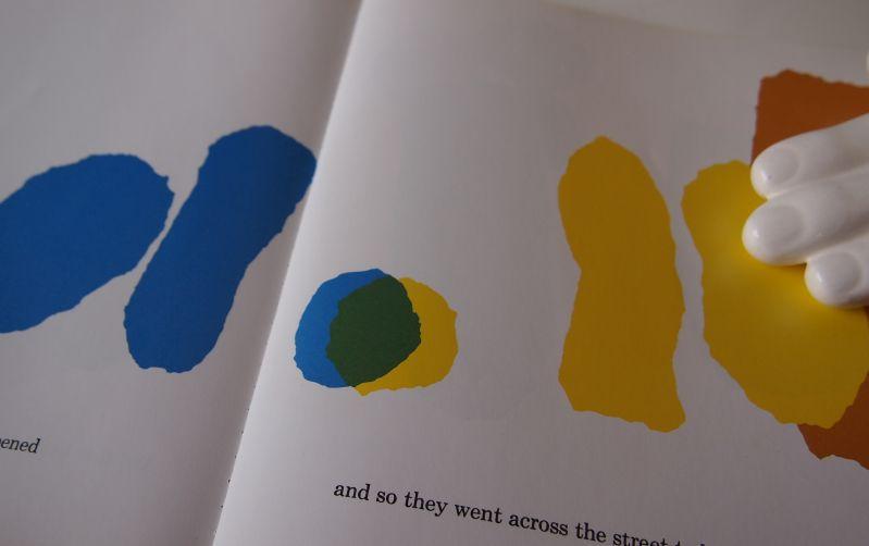 Seite aus das kleine Blau und das kleine Gelb