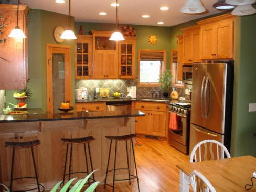 Kitchen Color Ideas With Wood Cabinets Home Interior Exterior Decor Design Ideas