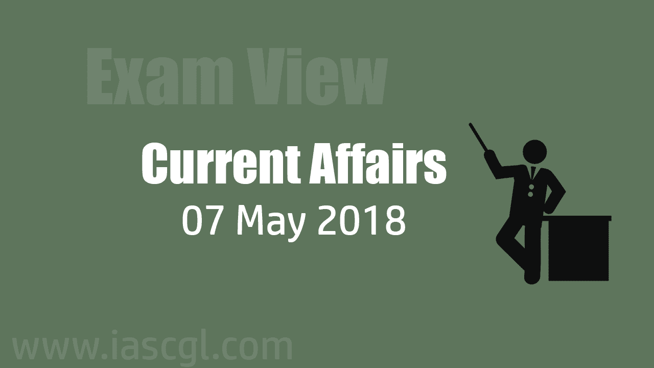 Current Affair 07 May 2018