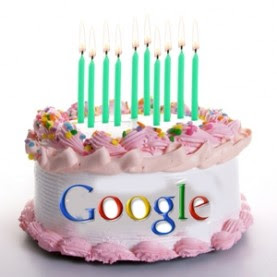 Google Doodle Birthday Cake