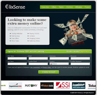 ClixSense - Splash Pages
