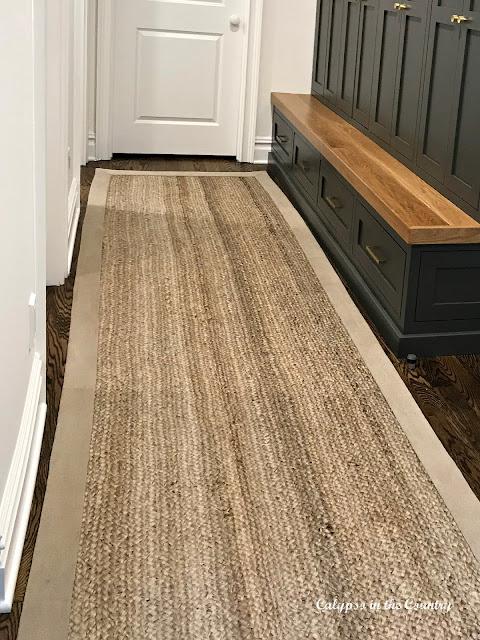 Natural fiber runner rug