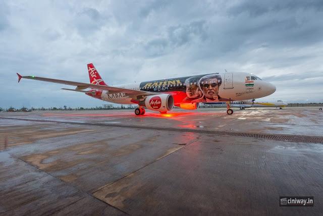 Kabali Air Asia Special Flight Photos