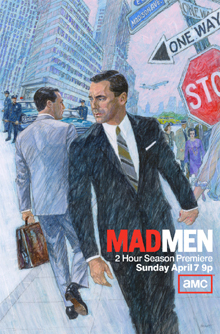 This Mad Men poster features the premiere date.