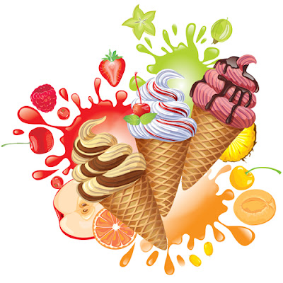 Different colored Ice cream vector