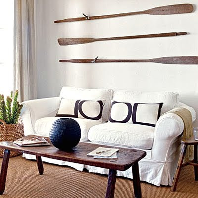 accent wall idea with oars