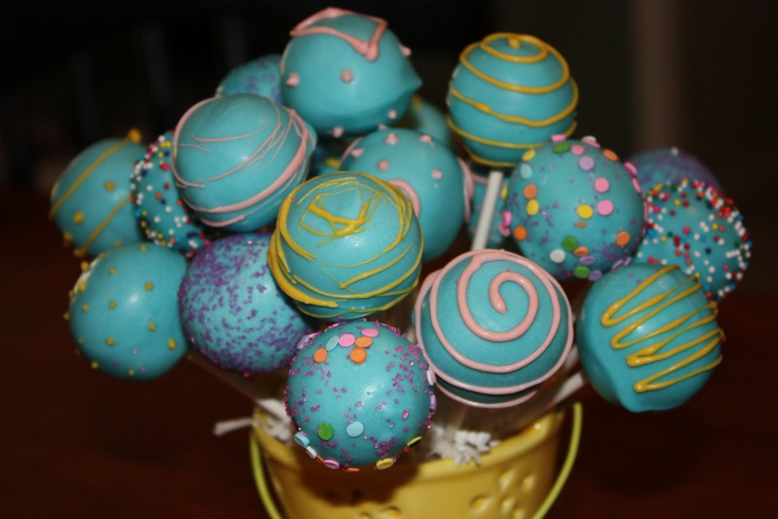 Cake Pops By Randi Birthday Cake Pop Bouquet