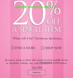 Victoria's Secret coupons april 2017