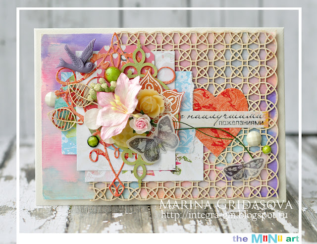 best wishes | The Mini-Art DT @akonitt #giftenvelope #envelope #scrap #scrapbooking #by_marina_gridasova