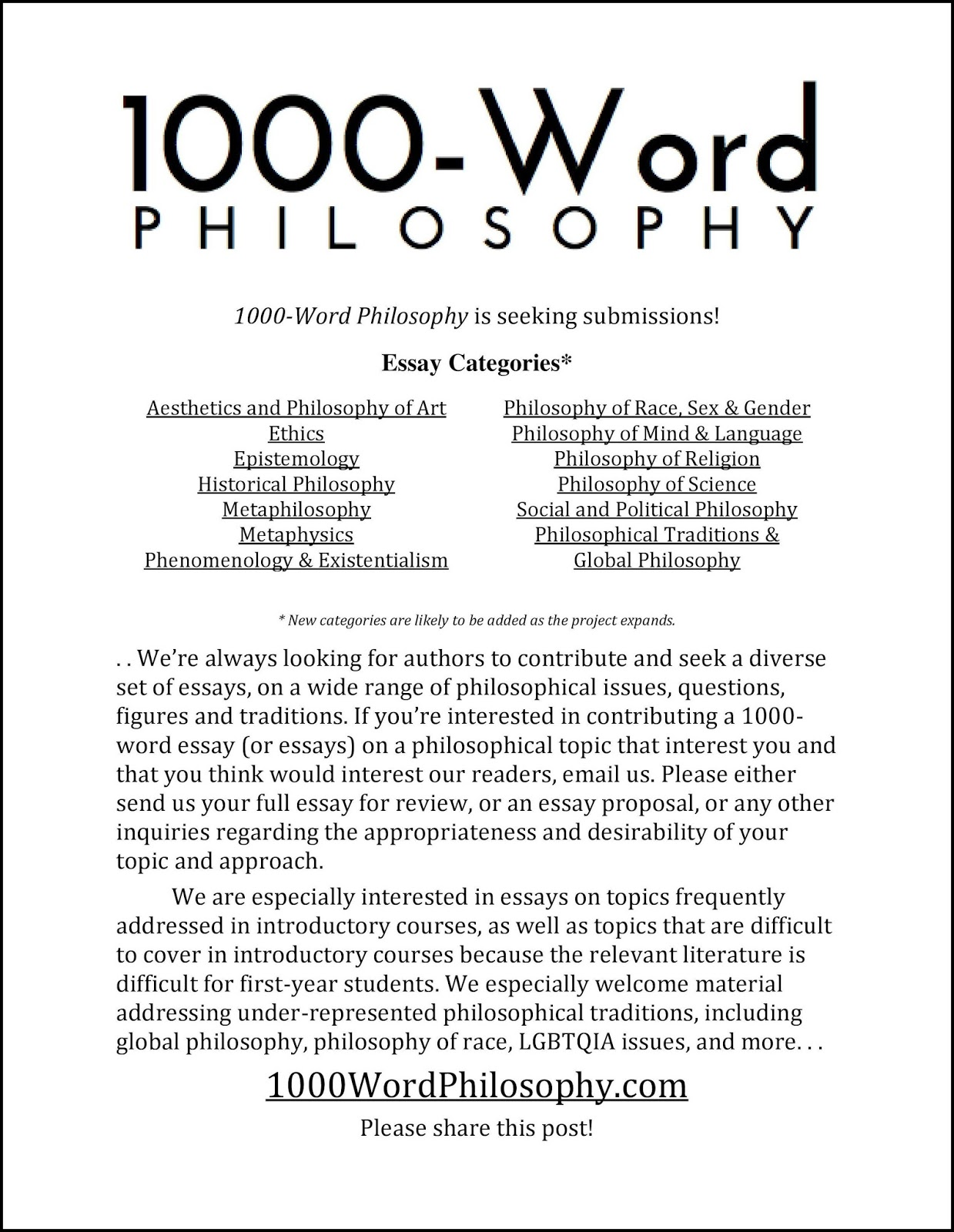 english essay 1000 words The word essay derives from the french infinitive essayer  ben jonson first used the word essayist in english in 1609  (c 1000), by court lady sei.