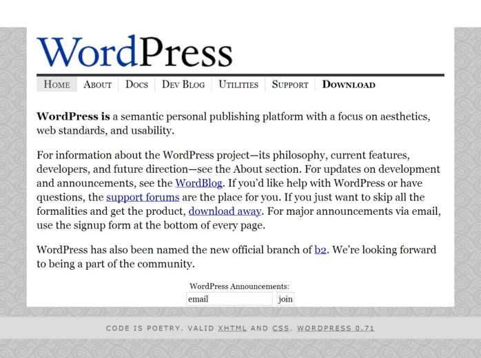 Wordpress em 20013