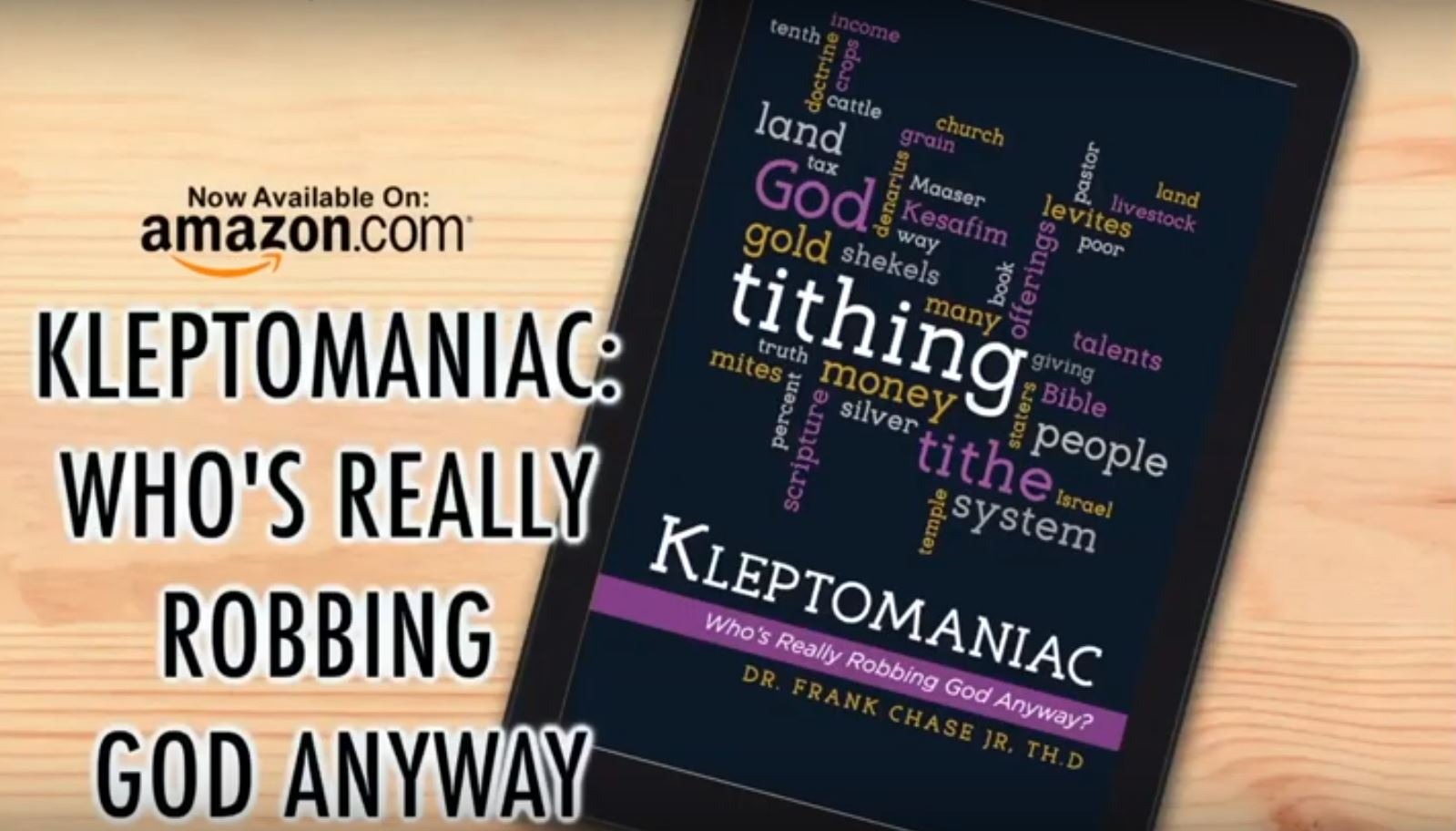 KLEPTOMANIAC: Who's Really Robbing God Anyway? by Frank Chase Jr.