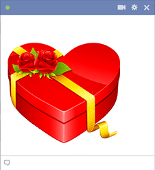 Heart-Shaped Gift Box - Sticker for Facebook