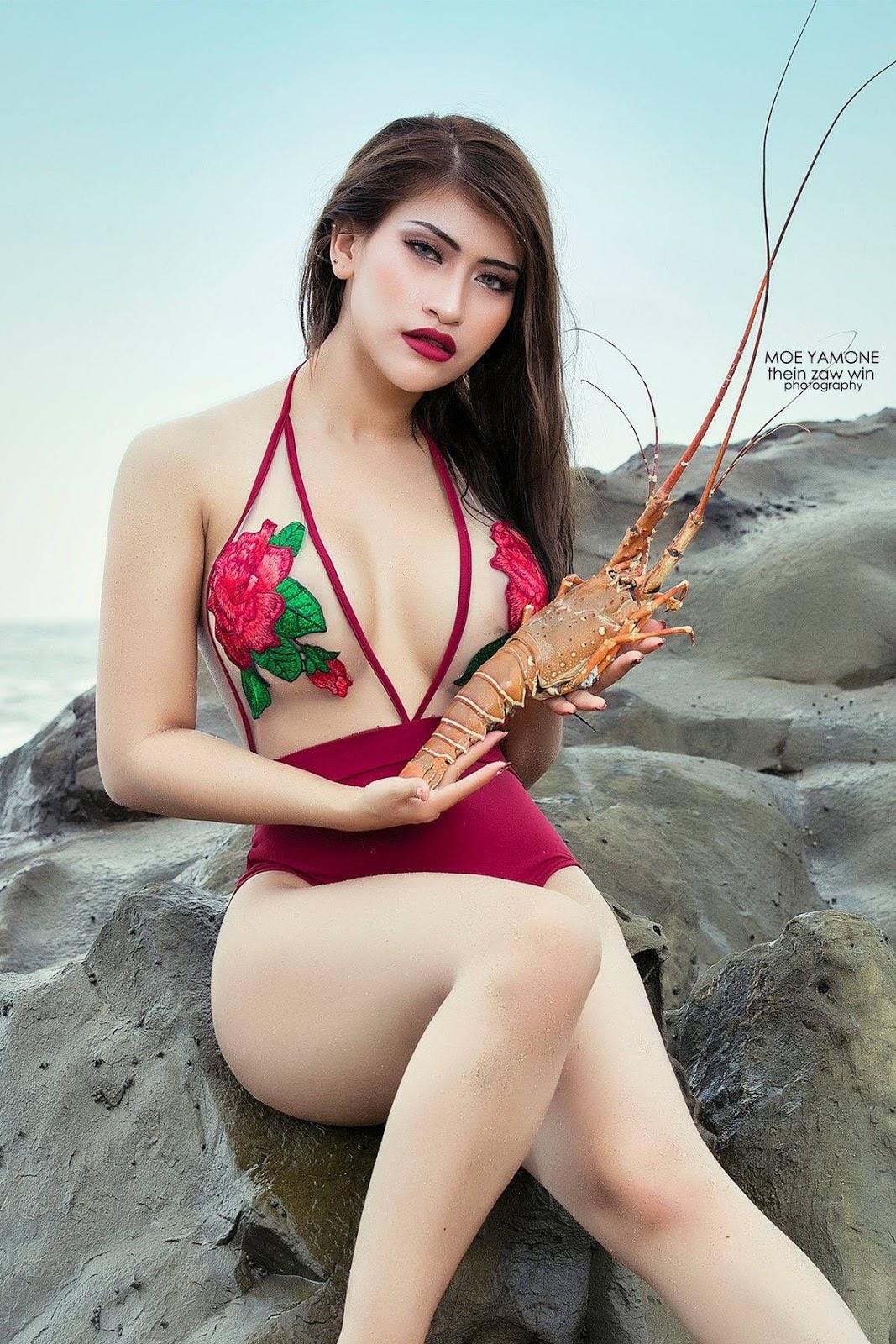 Myanmar Model Moe Yamone Collection Album
